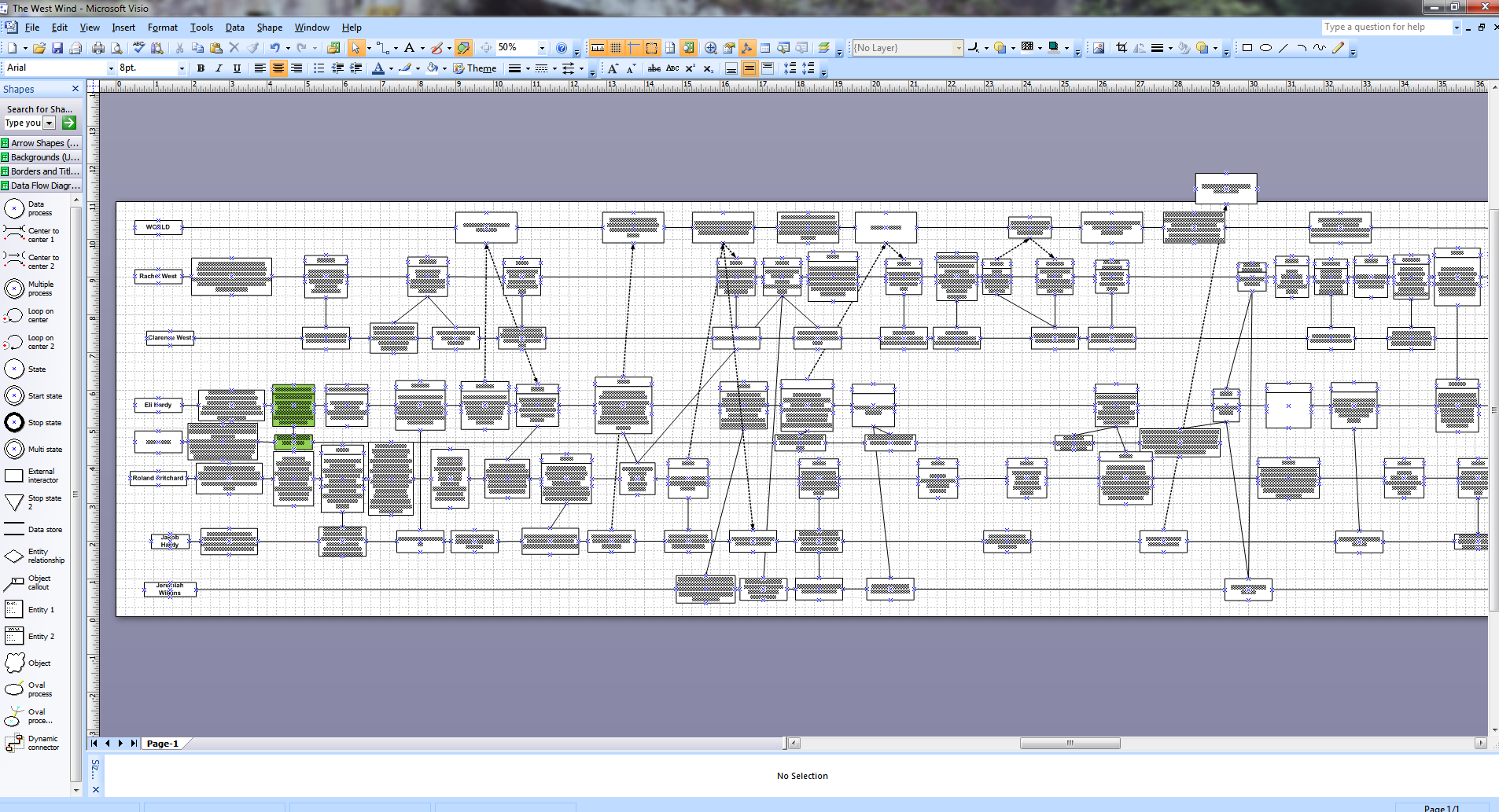 visio project timeline template - revision d w beyer